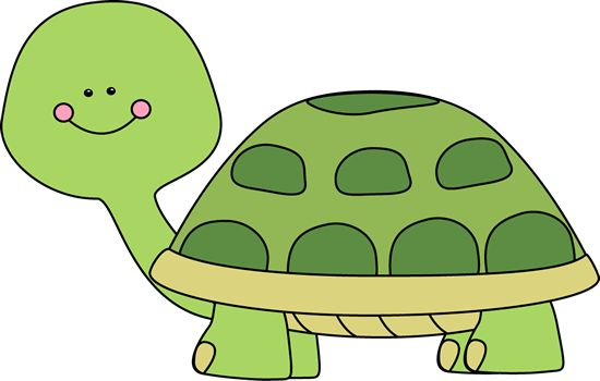 A happy turtle.