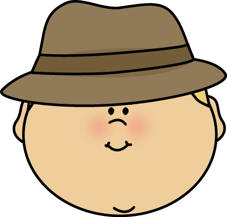 Man in hat clipart.