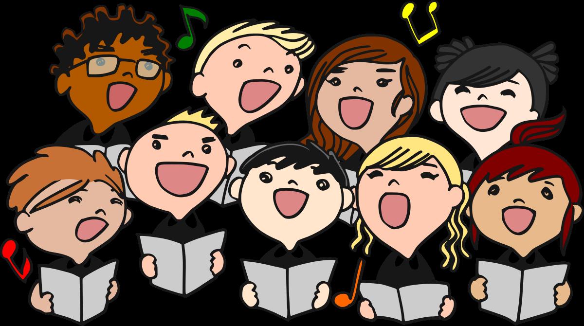 Kids singing in a choir.
