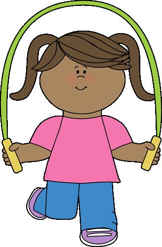 A girl jumproping