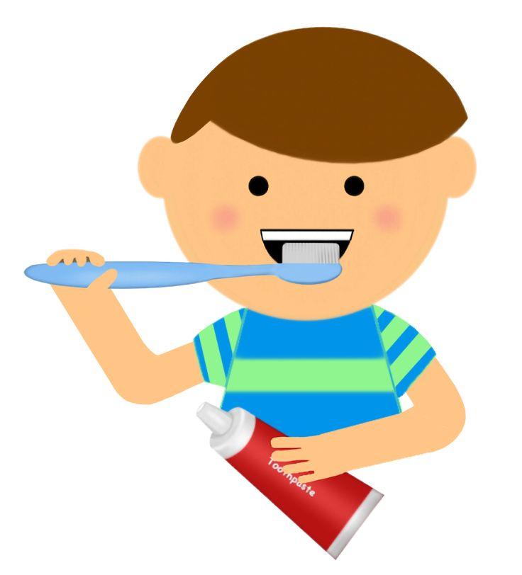 Boy brushing his teeth