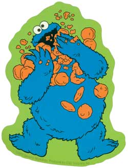 The cookie monster eating cookies