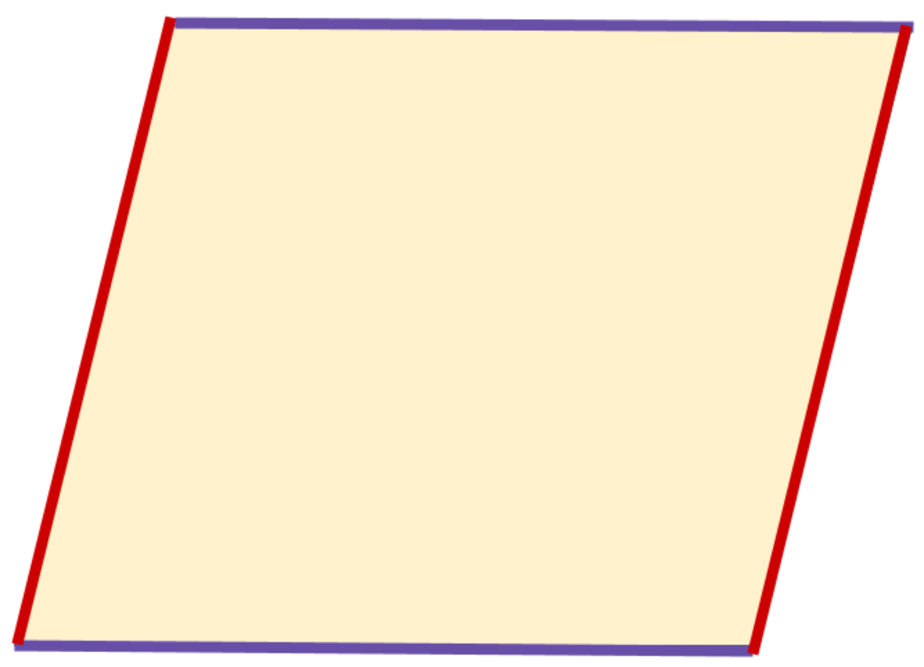 the pair of sides in a parallelogram that are parallel