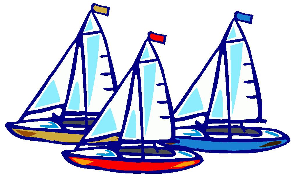 Three sailboats