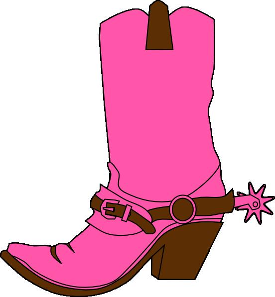 A girls cowboy boot.