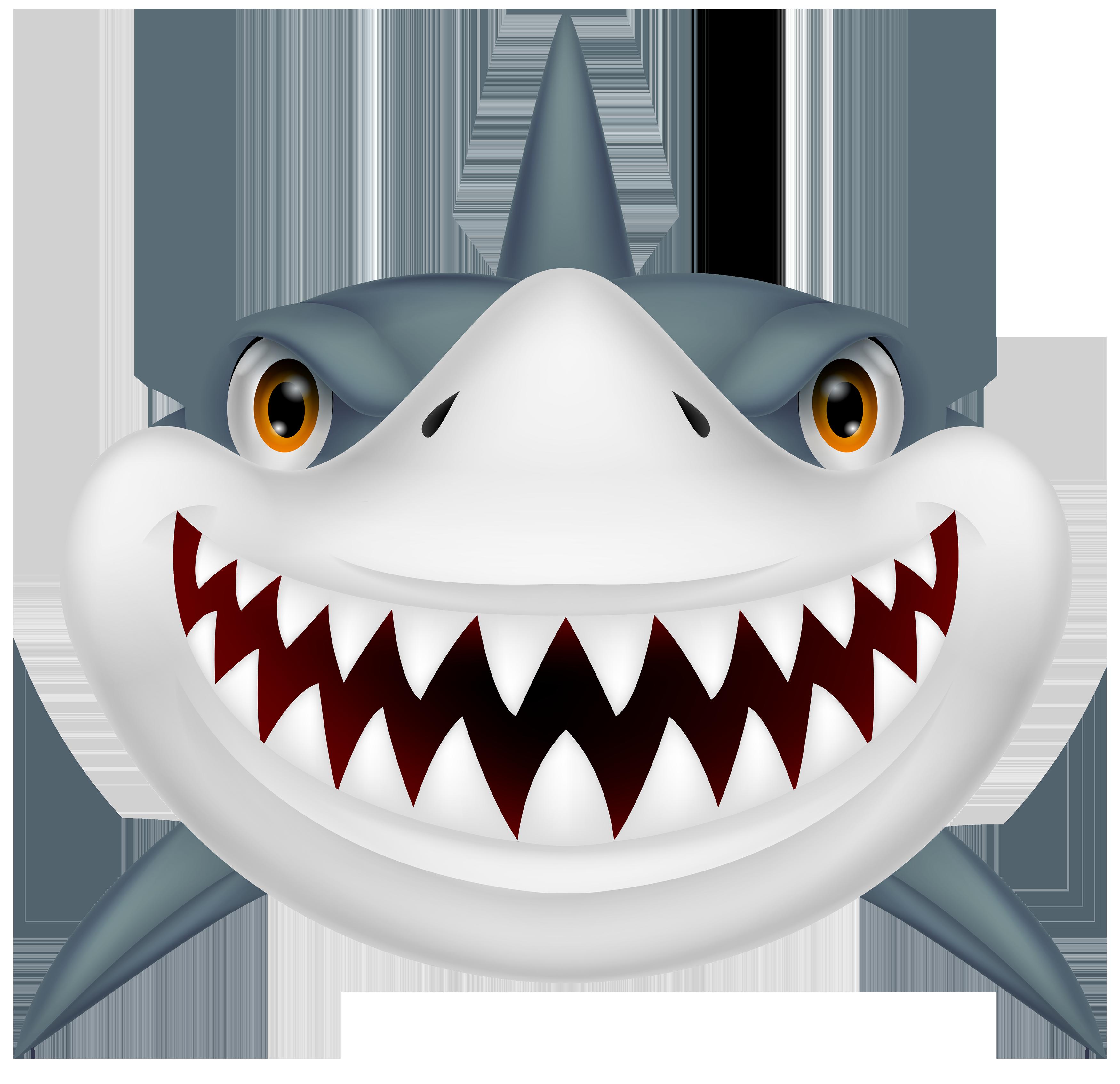 A shark with sharp teeth.
