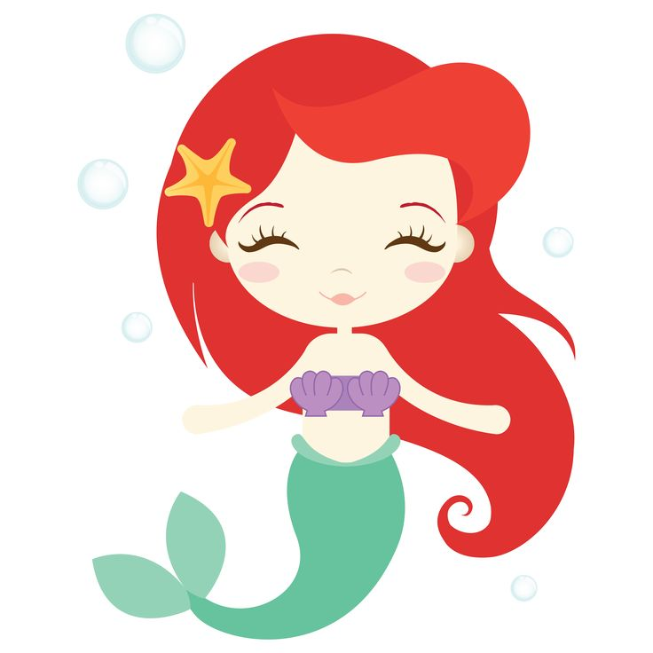 A mermaid with red hair.