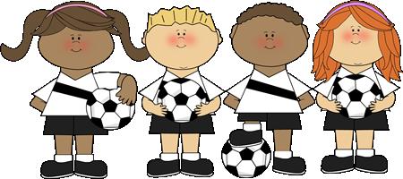 Kids on the soccer team.