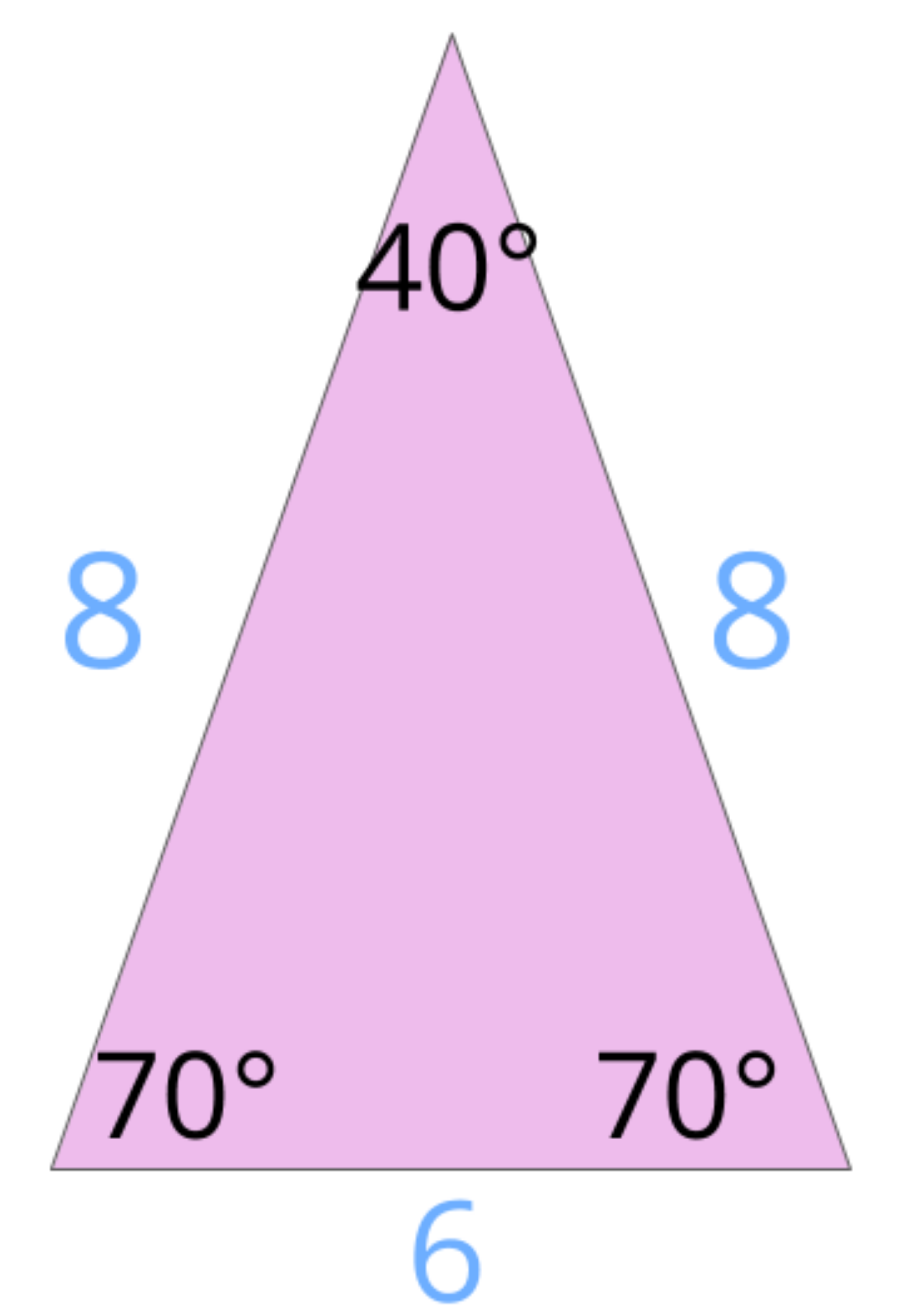 this is an isosceles triangle