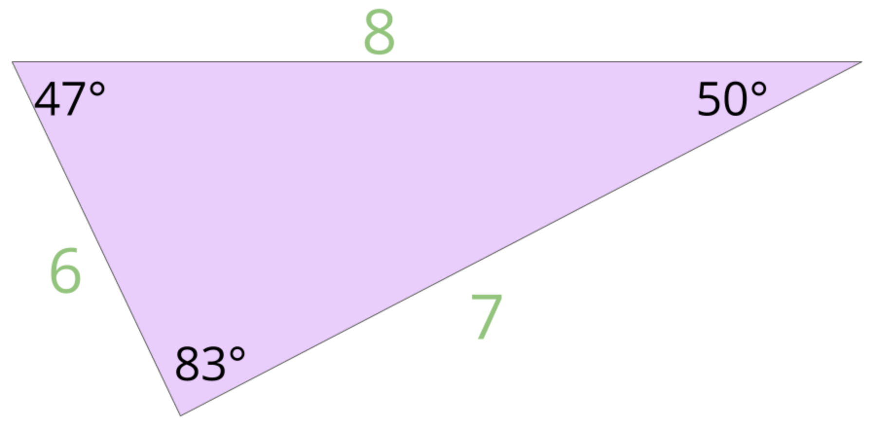 none of the sides of this triangle are equal