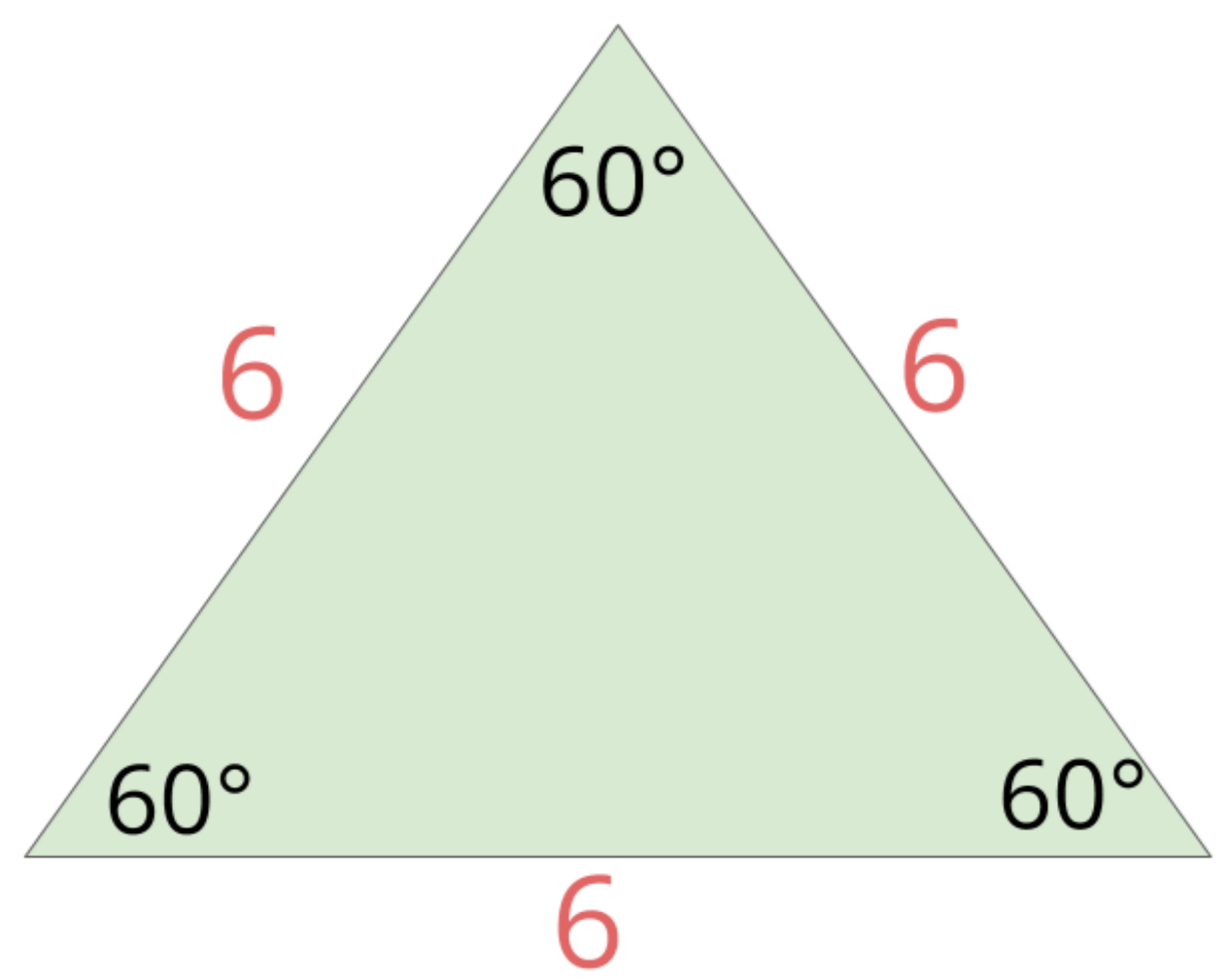 this triangle has 3 60 degree angles