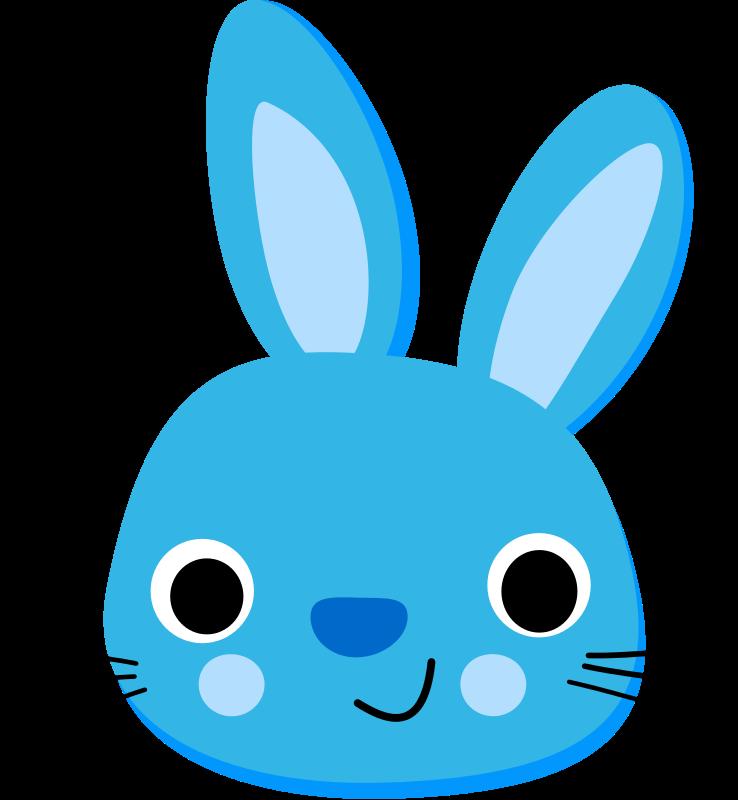 A happy blue bunny.