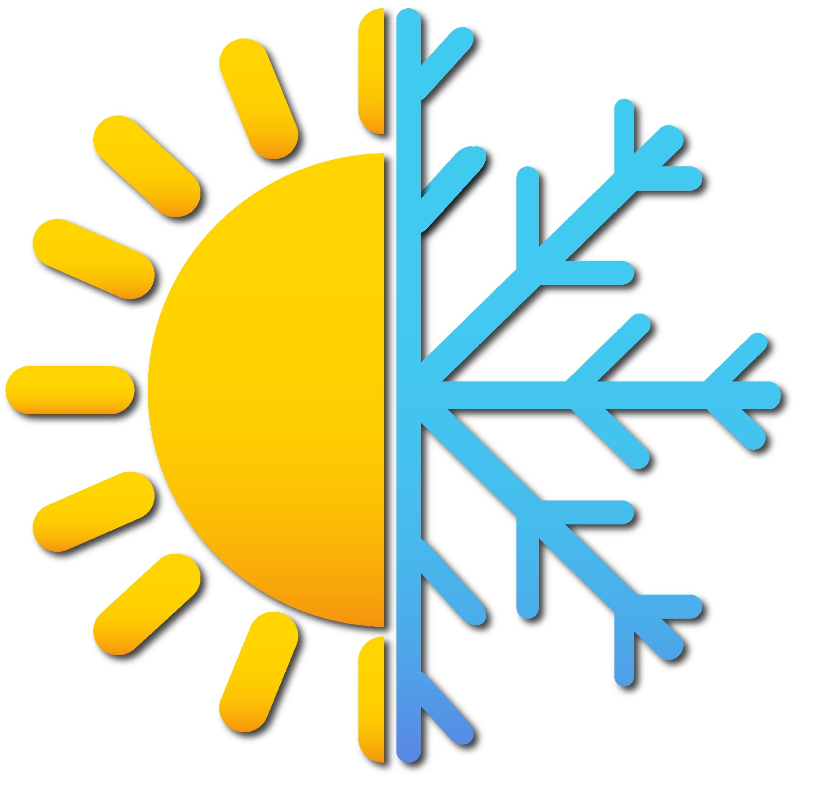 The sun and a snowflake