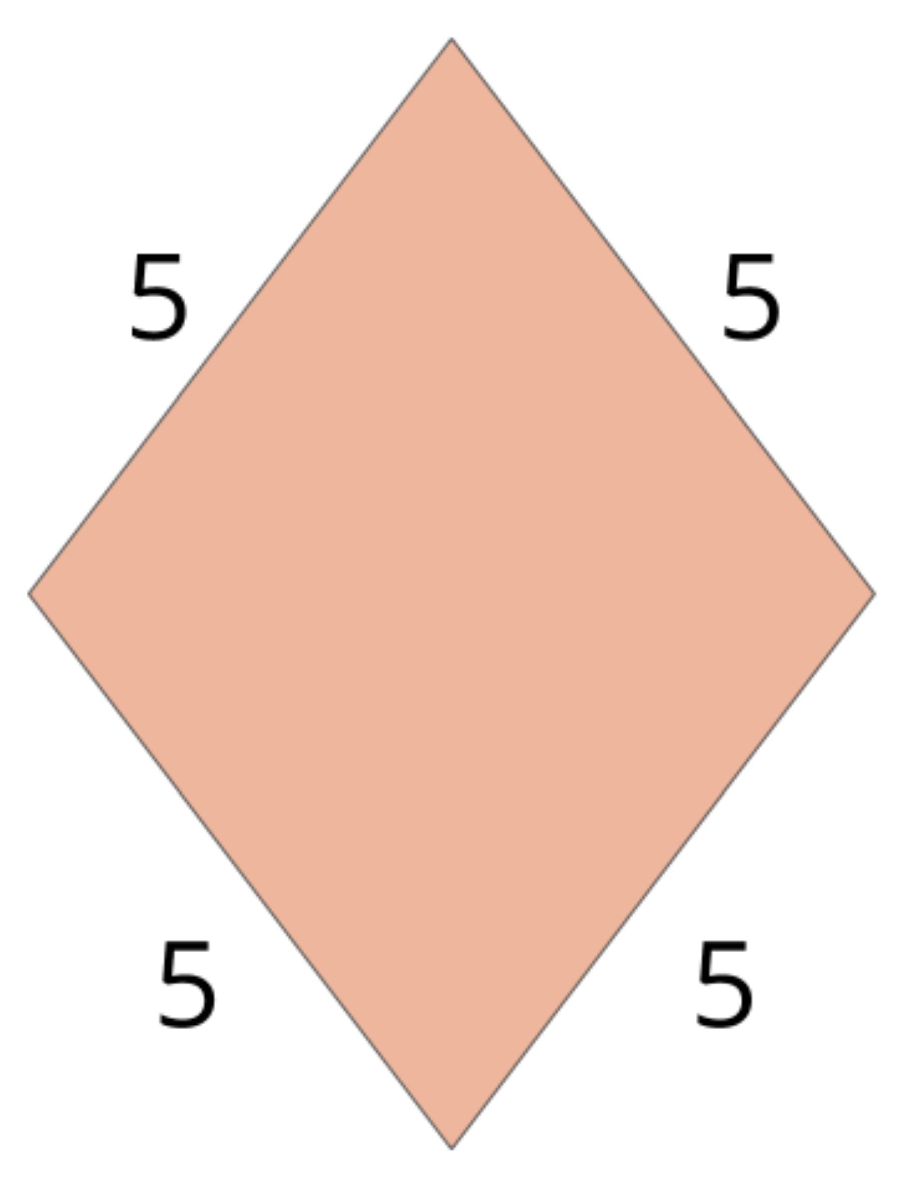sides of a rhombus