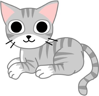 A gray striped cat.
