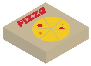 Pizza in a delivery box