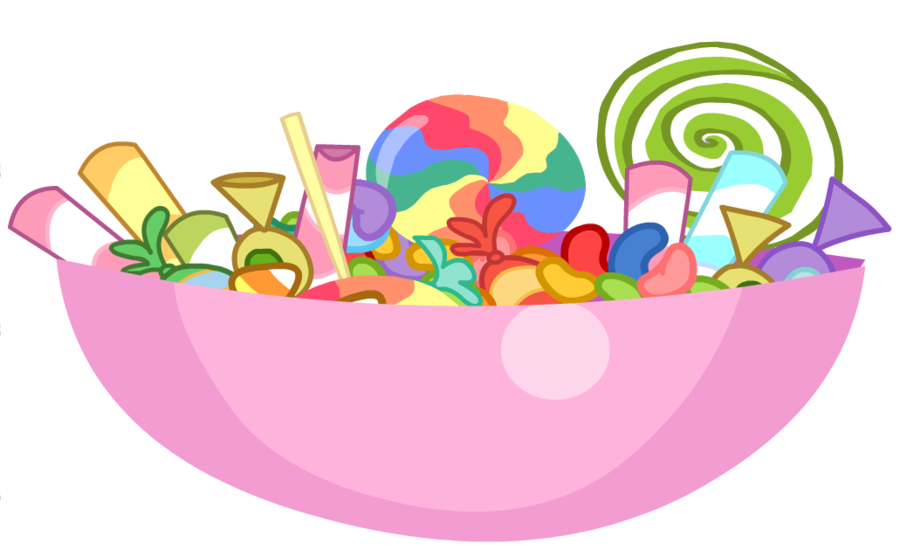 Candy in a candy bowl