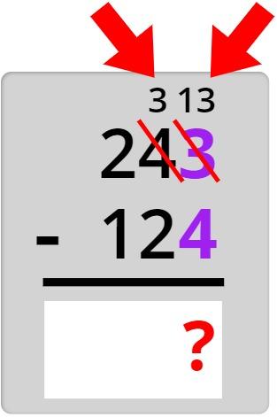 243 - 124