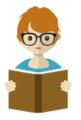 A girl reading a book.