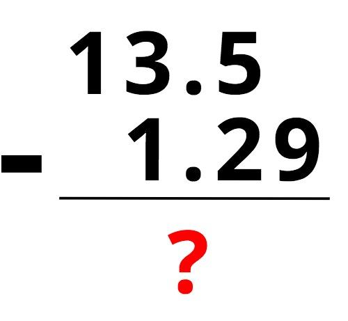 subtraction problem