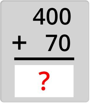 400 + 70