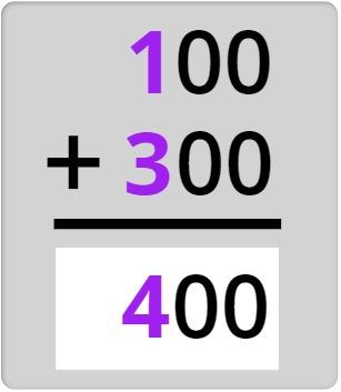 100 + 300