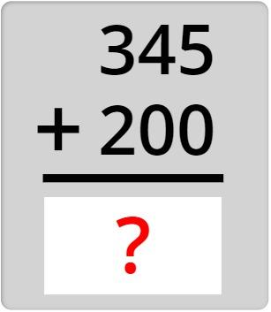 345 + 200