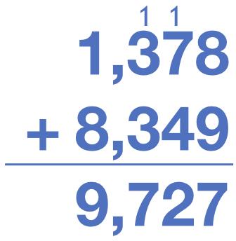 1,378 + 8,349 = 9,727