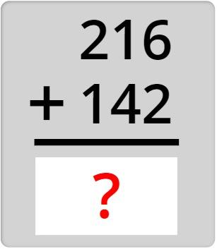 216 + 142