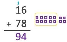 16 + 78 = 94