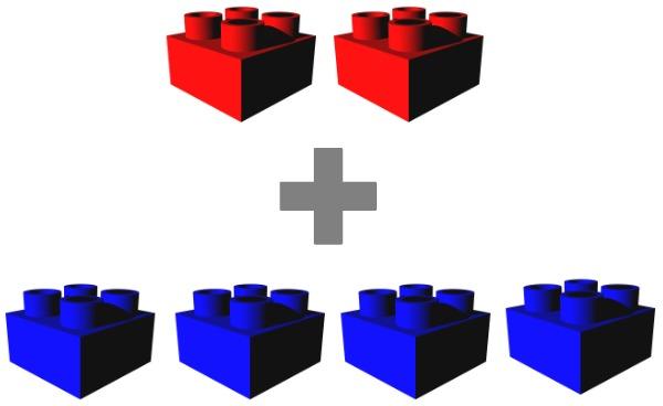 2 + 4 blocks