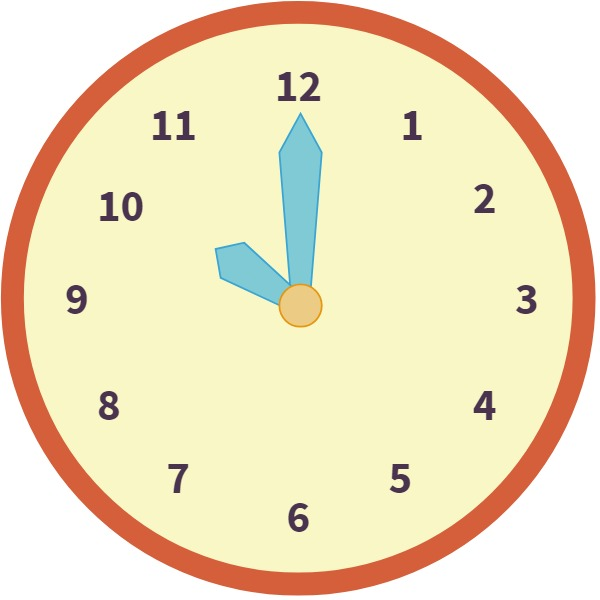 clock at 10 o'clock