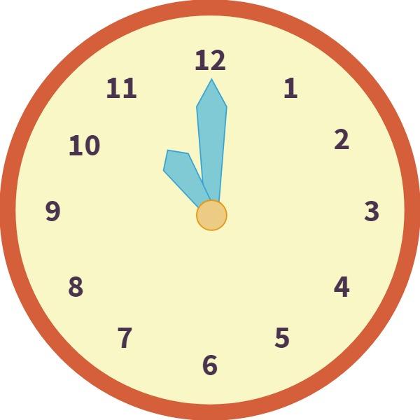 clock at 11 o'clock