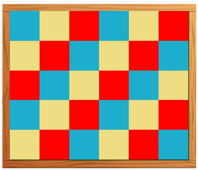 checkered board