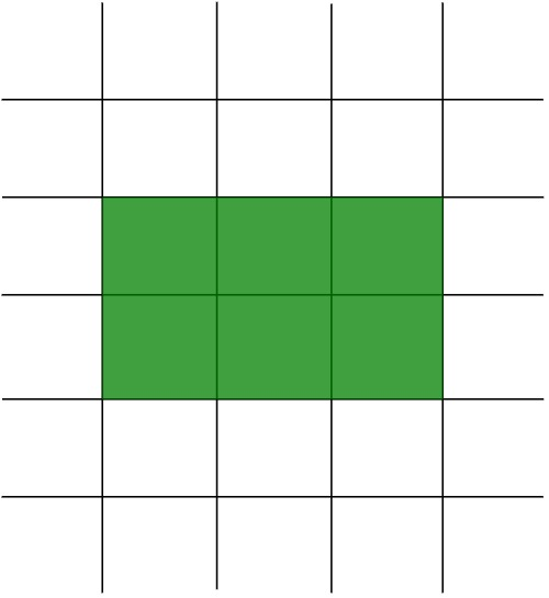 green rectangle on a grid