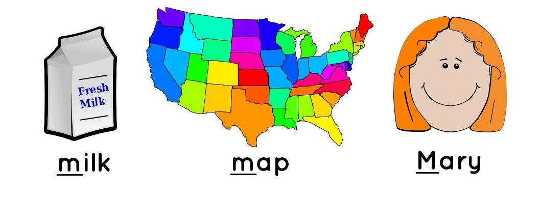 milk, map, Mary