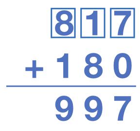 817 + 180 = 997