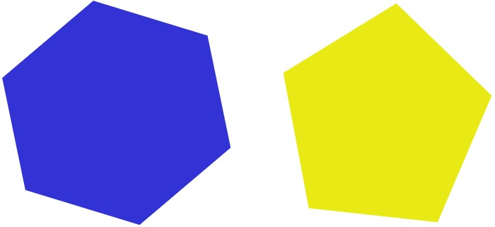 hexagon and pentagon