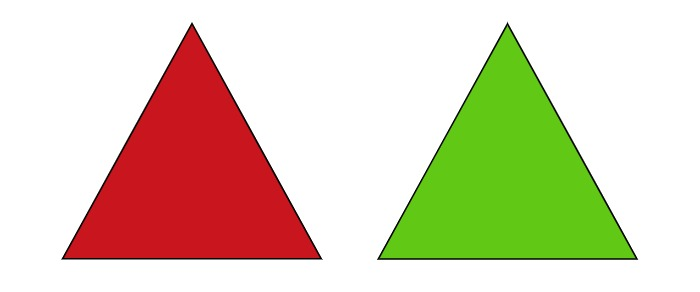 a pair of triangles