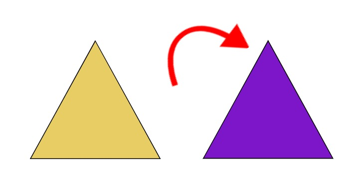 look what happens if we turn the other triangle this way