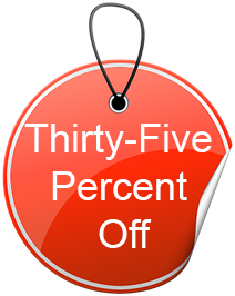 thirty five percent off