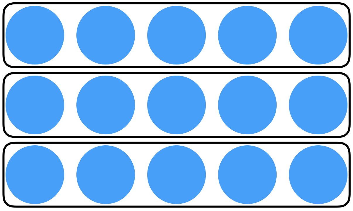 rows of circles