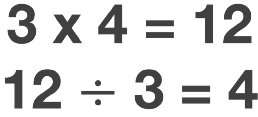 3x 4 and 12 divided 3