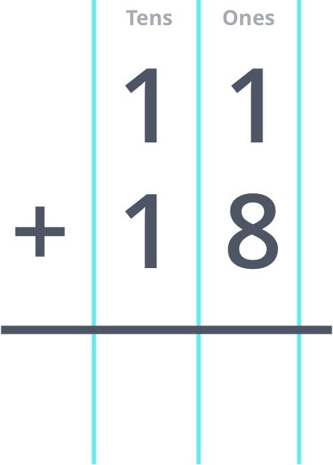 11 + 18