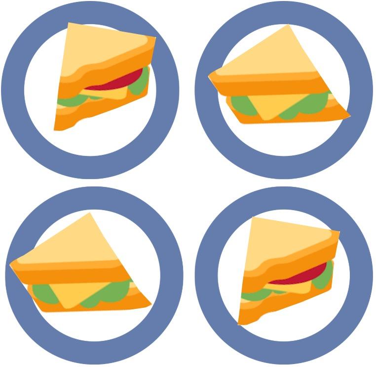 4 sandwich slices