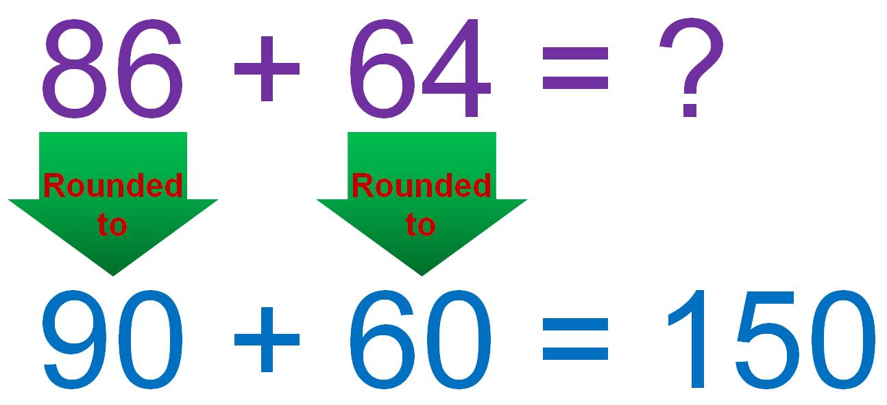 86 + 64 = ?