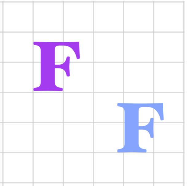 slide F on the grid