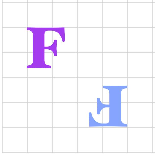 turn F on the grid