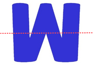 upside down M