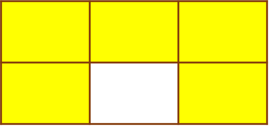 rectangle divided into 6 parts
